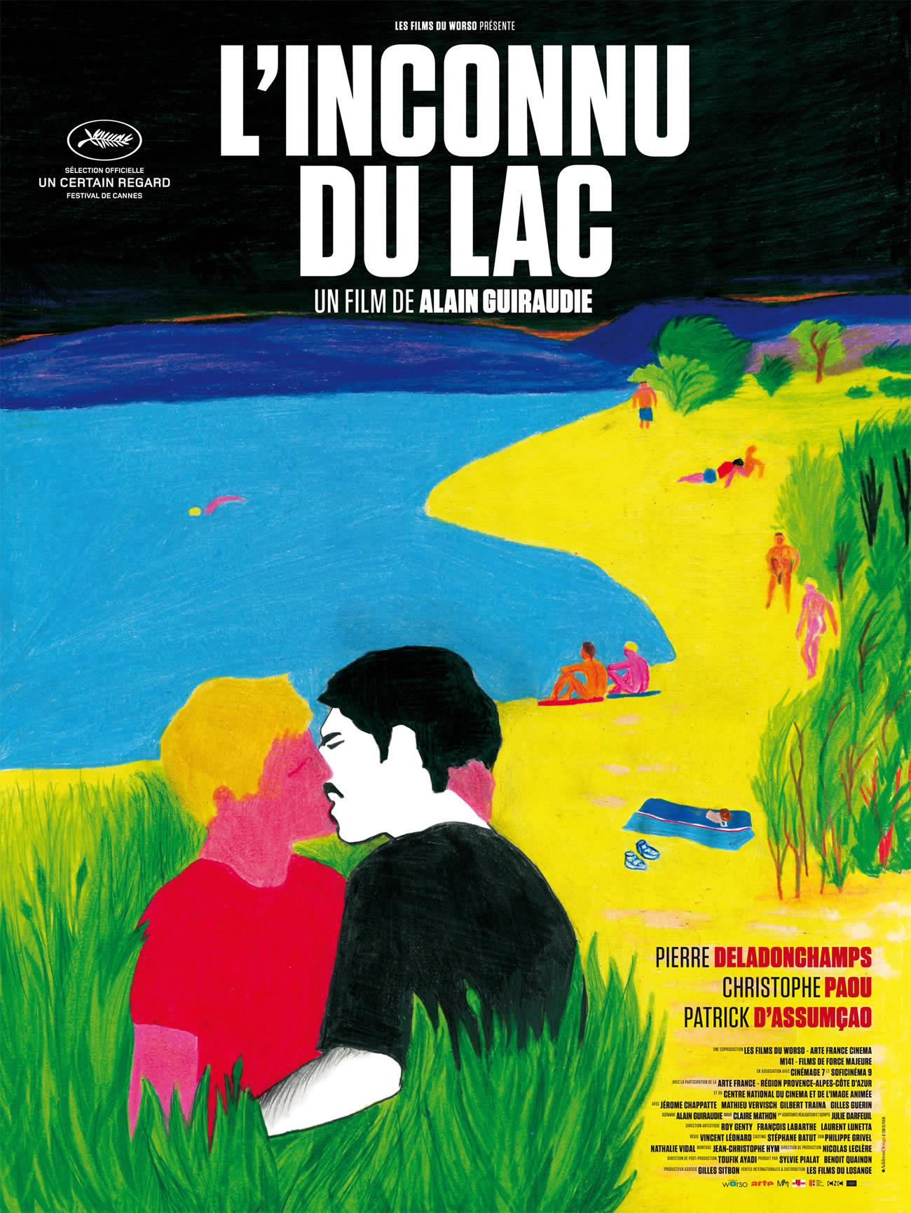 the stranger by the lake, painting poster