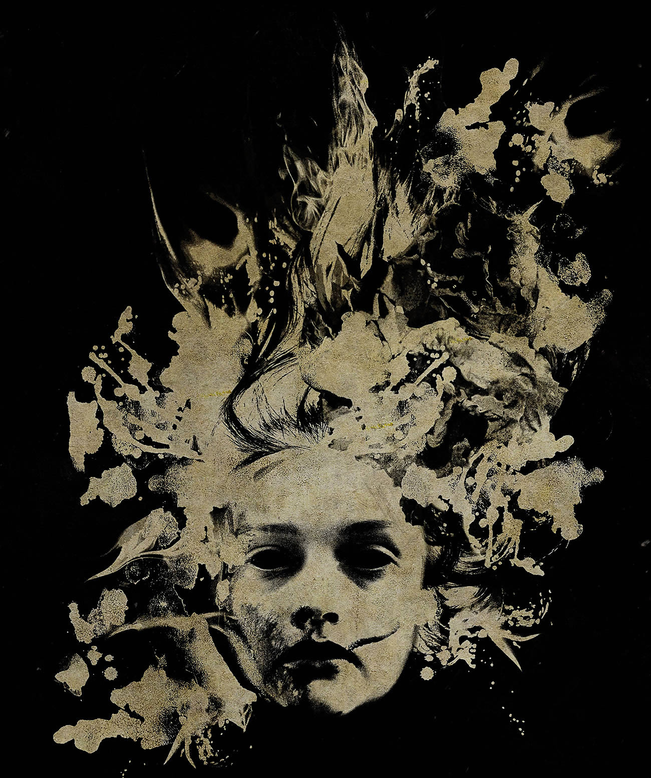 the quiet ones movie poster, butterflies, painterly style
