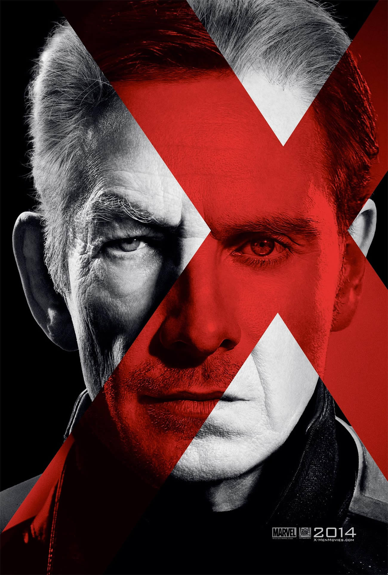 X-Men: Days of Future Past,red x on actor's face
