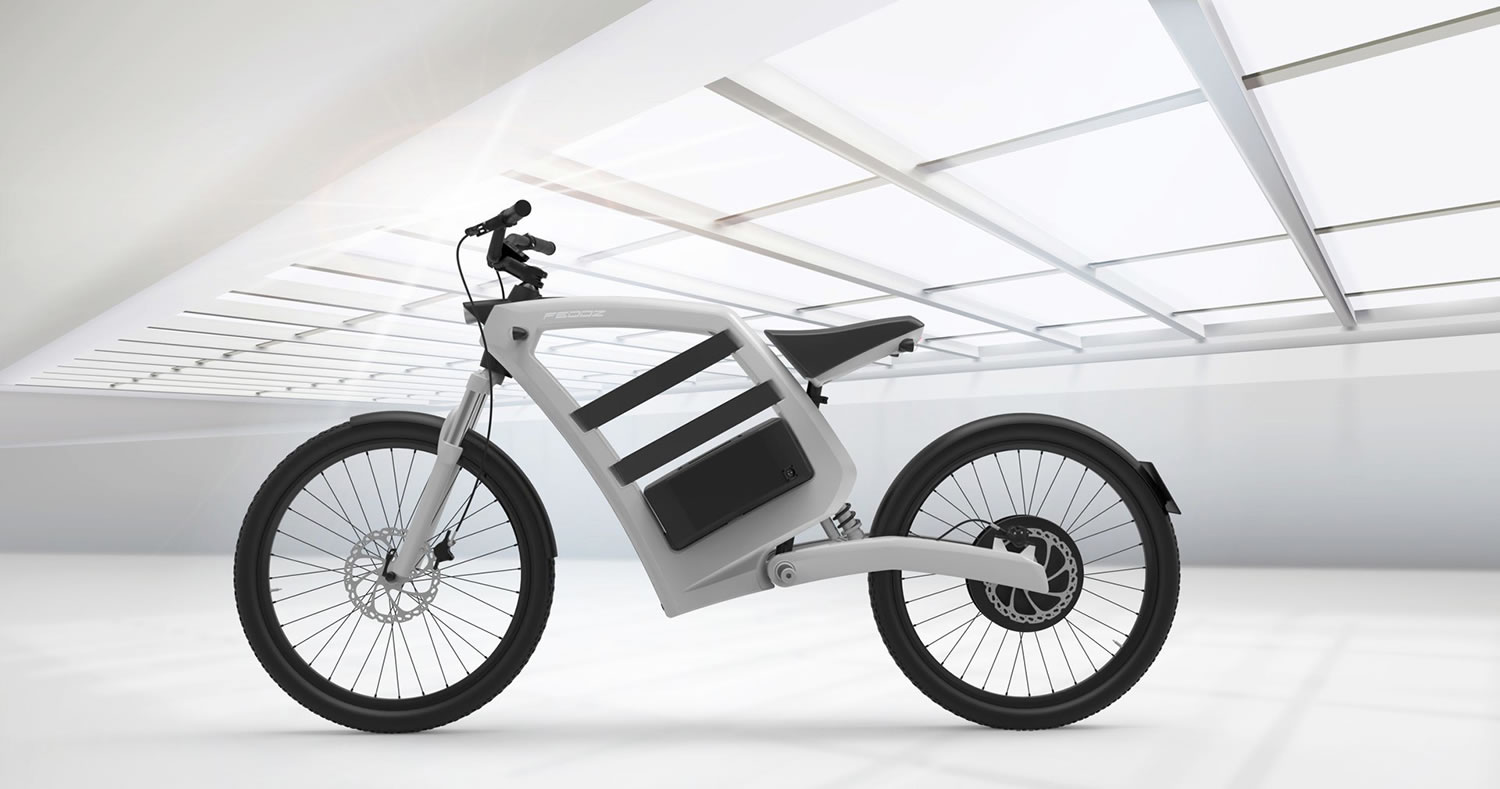 minimalist view of feddz bike, white