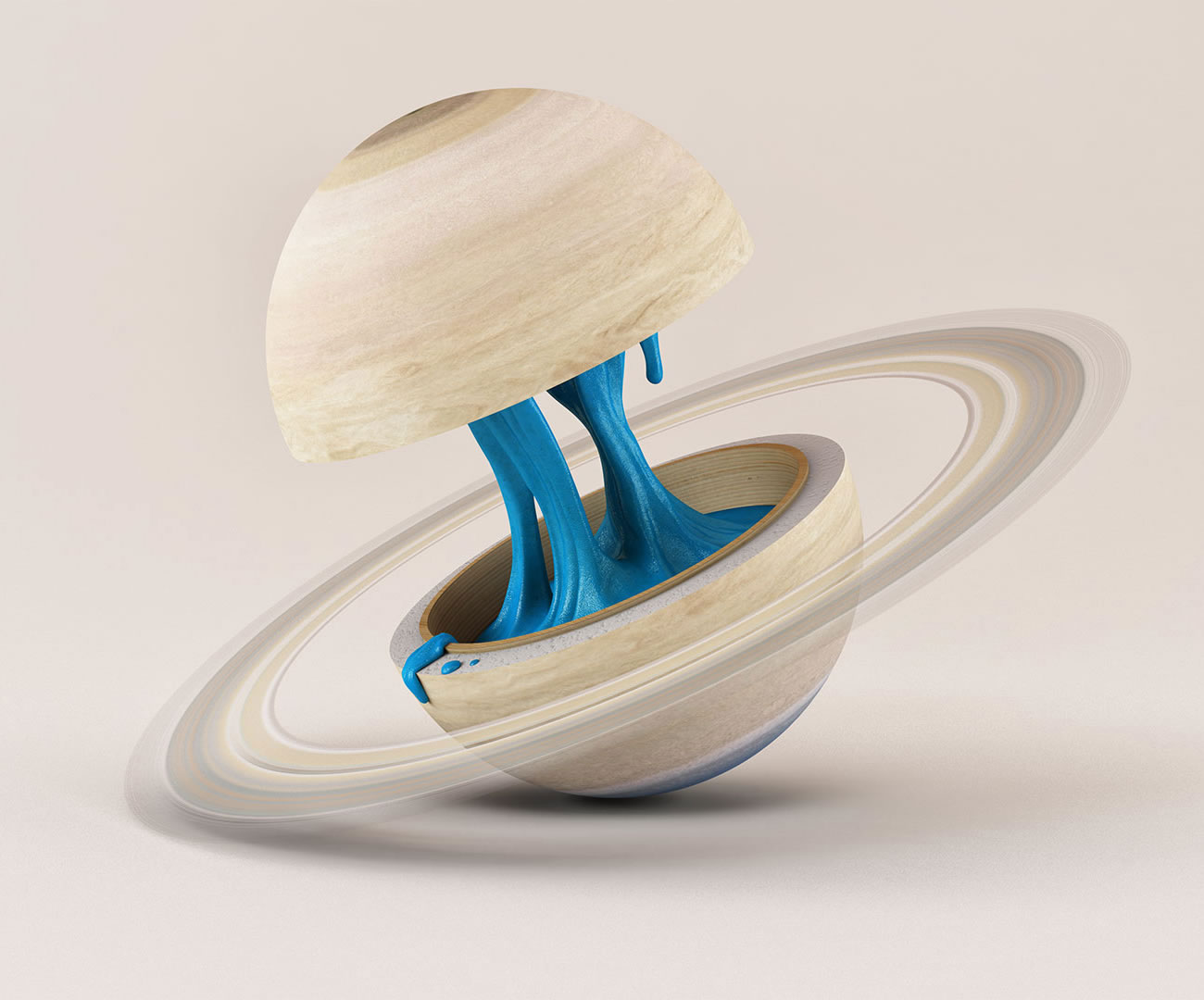 saturn gum inside, planetary anatomy by foreal