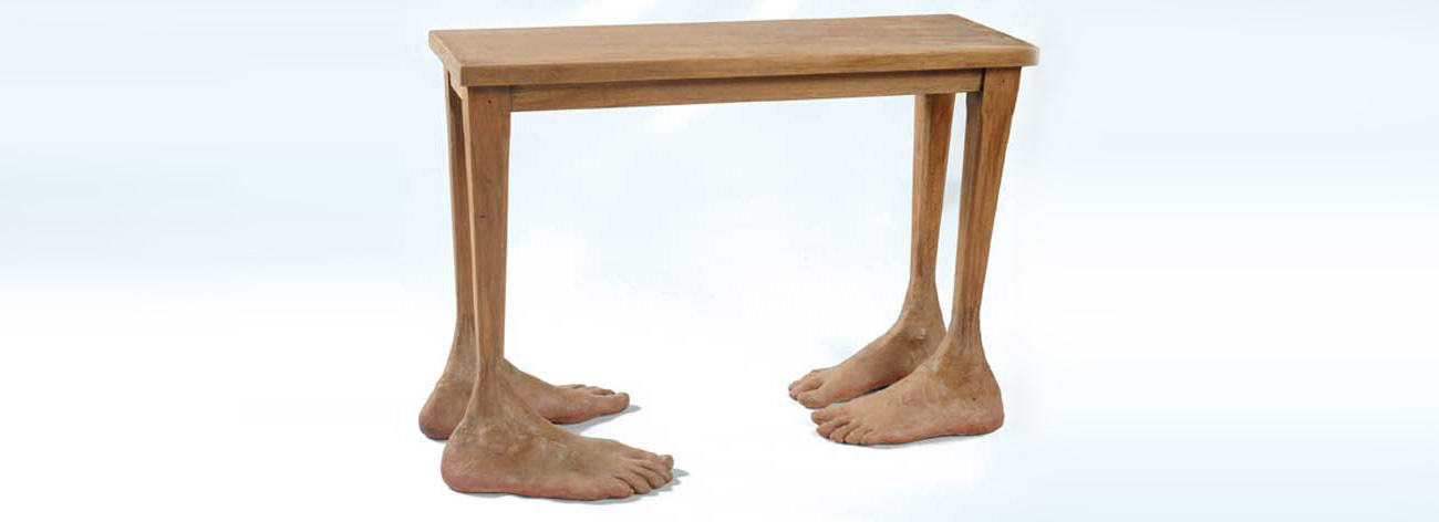 table with feet by gerardo feldstein
