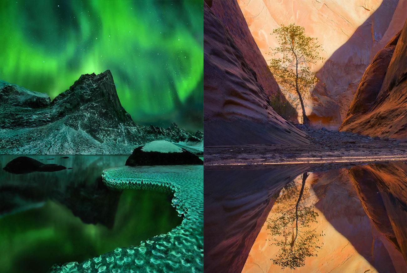 landscape, aurora, green by marc adamus