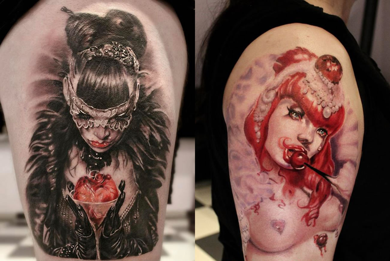 girl tattoos by moni marino