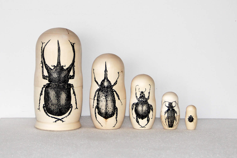 beetle bug, matryoshka wood by raul gutierrez