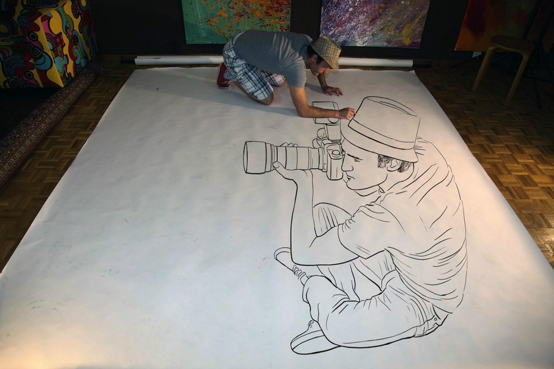 3d drawing paper ben heines
