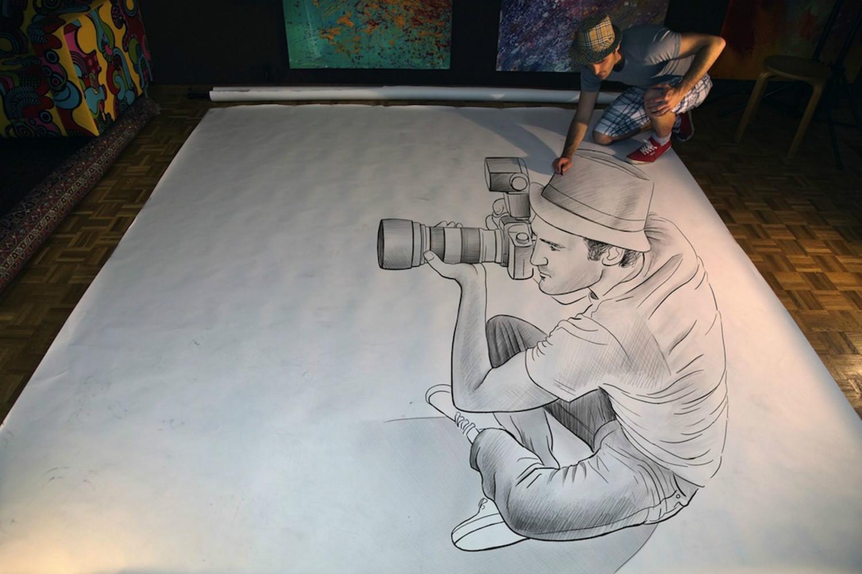 3d portrait pencil camera