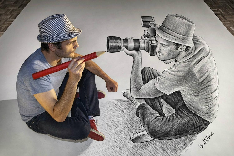 3d pencil portrait ben heines