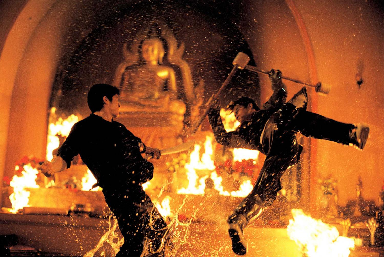 the warrior movie, fire fight scene