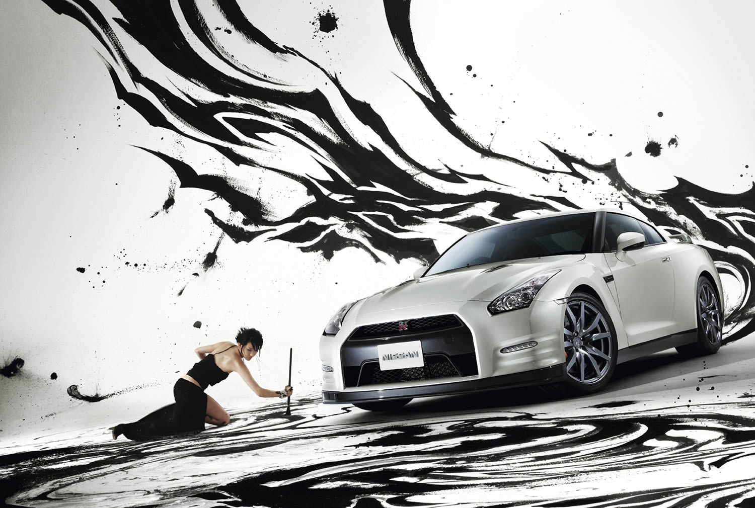 nissan calendar, art and car