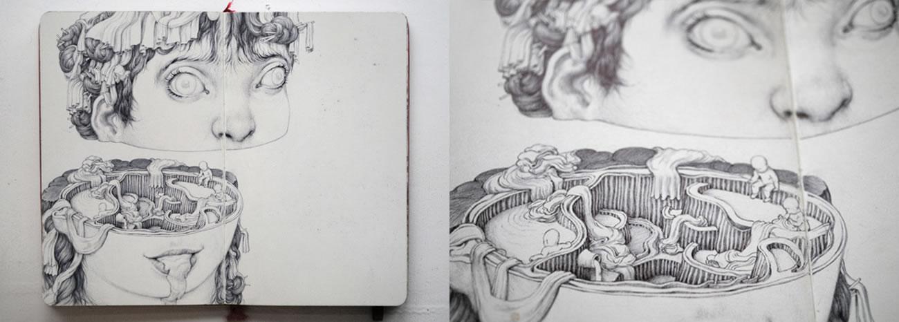 sketchbook drawing by anton vill