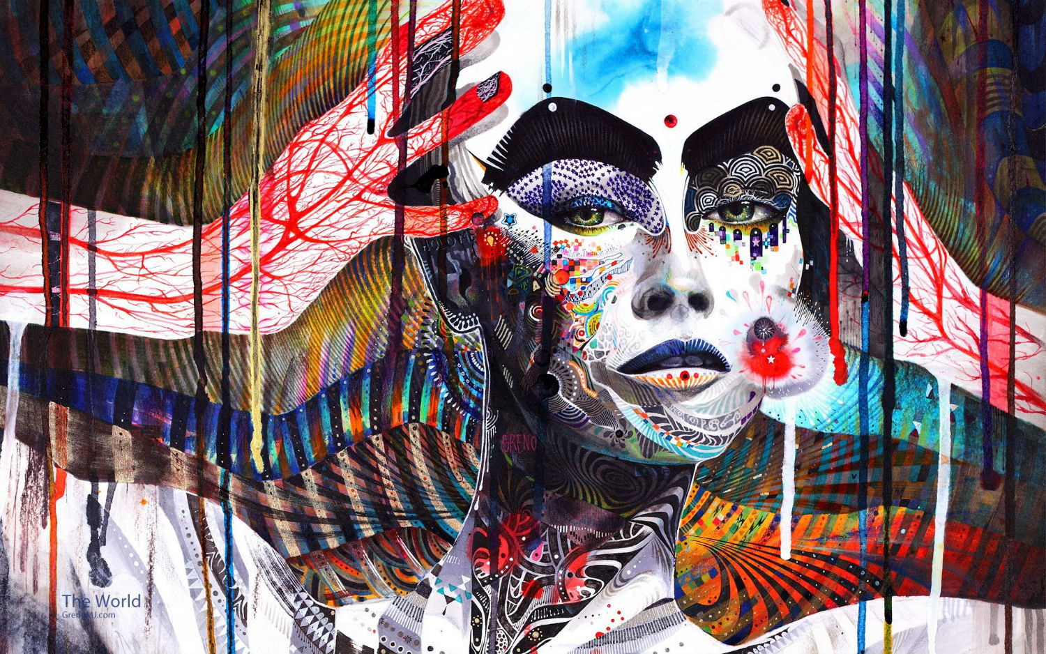 minjae lee abstract colour woman