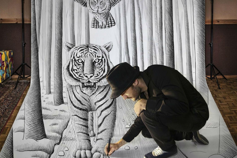 ben heines 3d tiger drawing