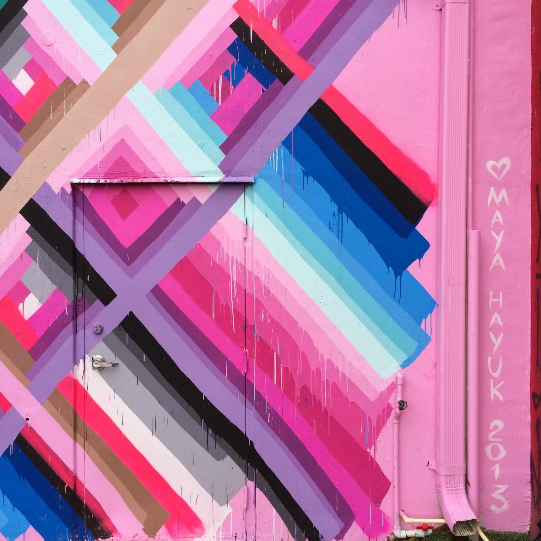 maya hayuk pink graffiti street art