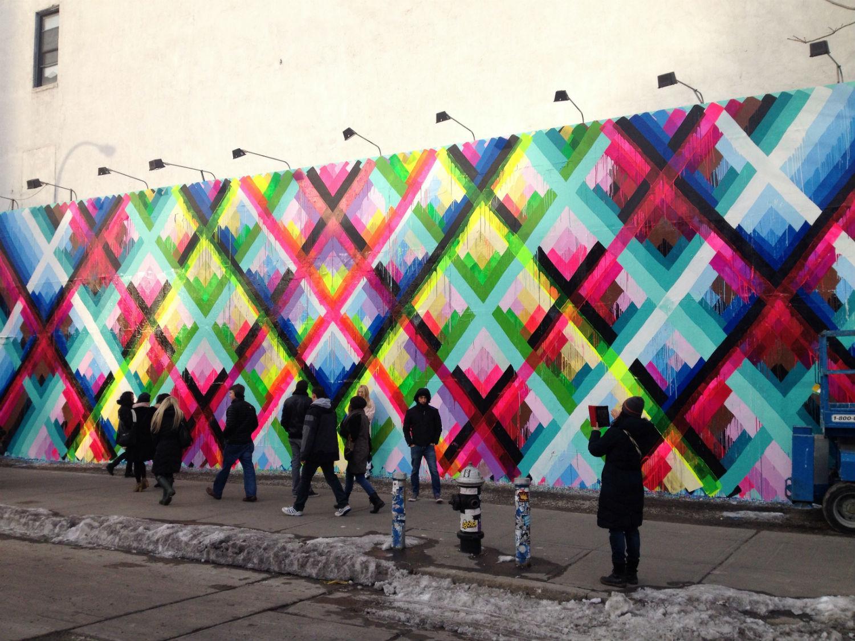 maya hayuk street art rainbow