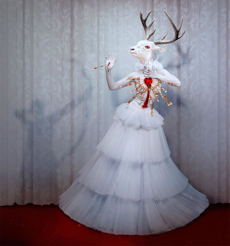 natalie shau illustration deer doll