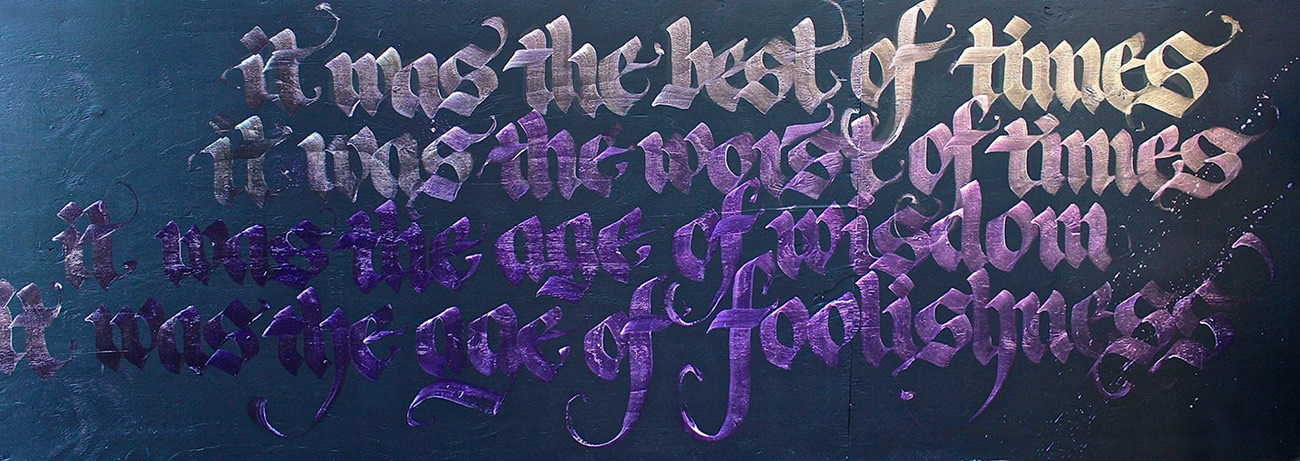purple letters by Niels Shoe Meulman