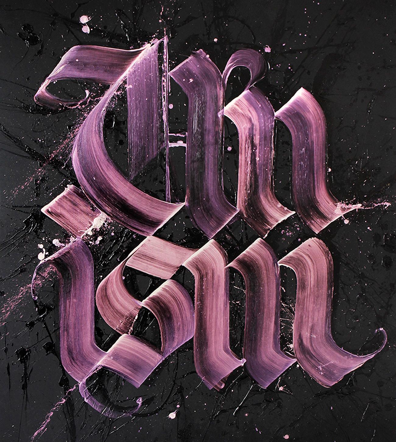 pink letters by Niels Shoe Meulman