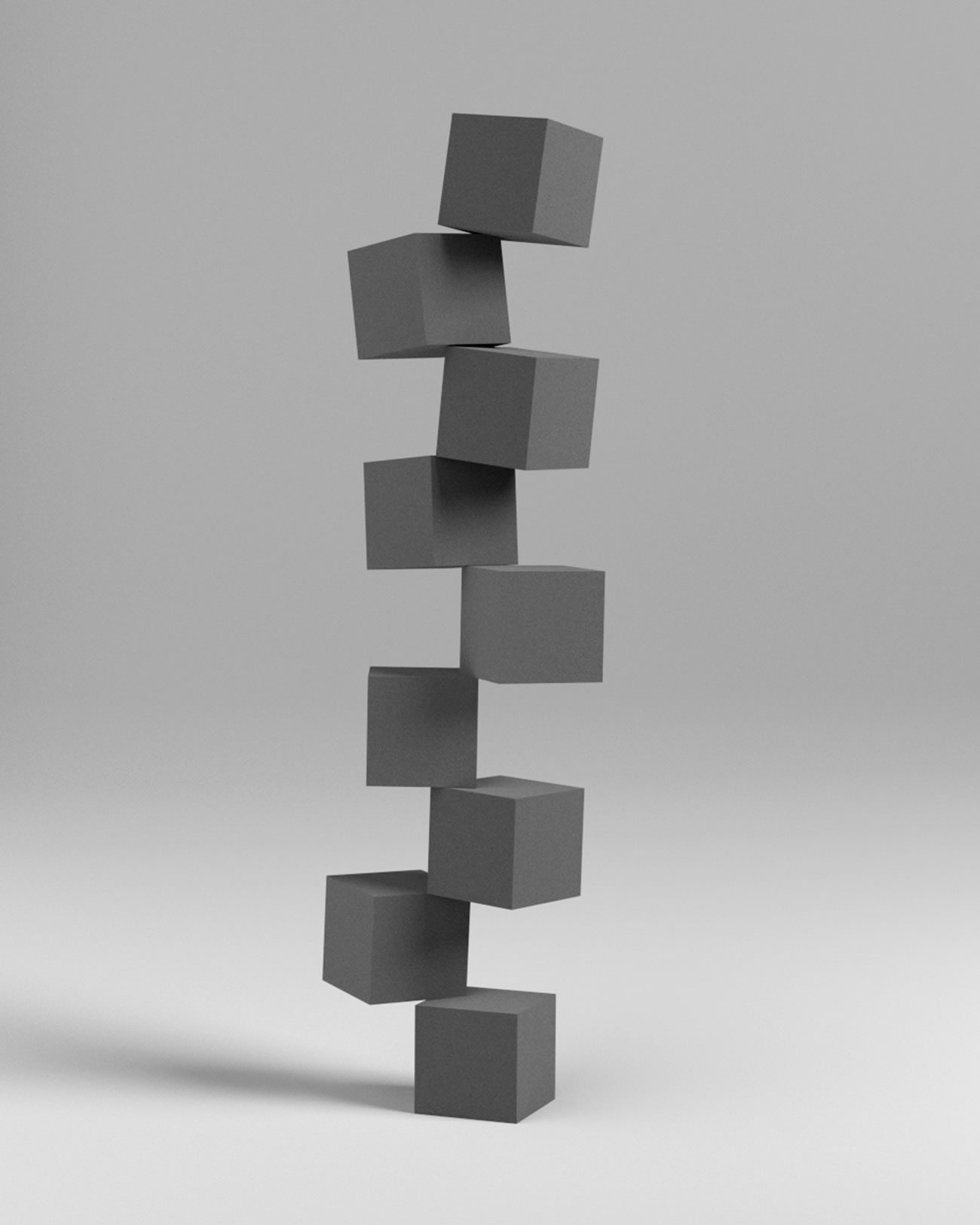 3d cubes stacked by by zachary norman