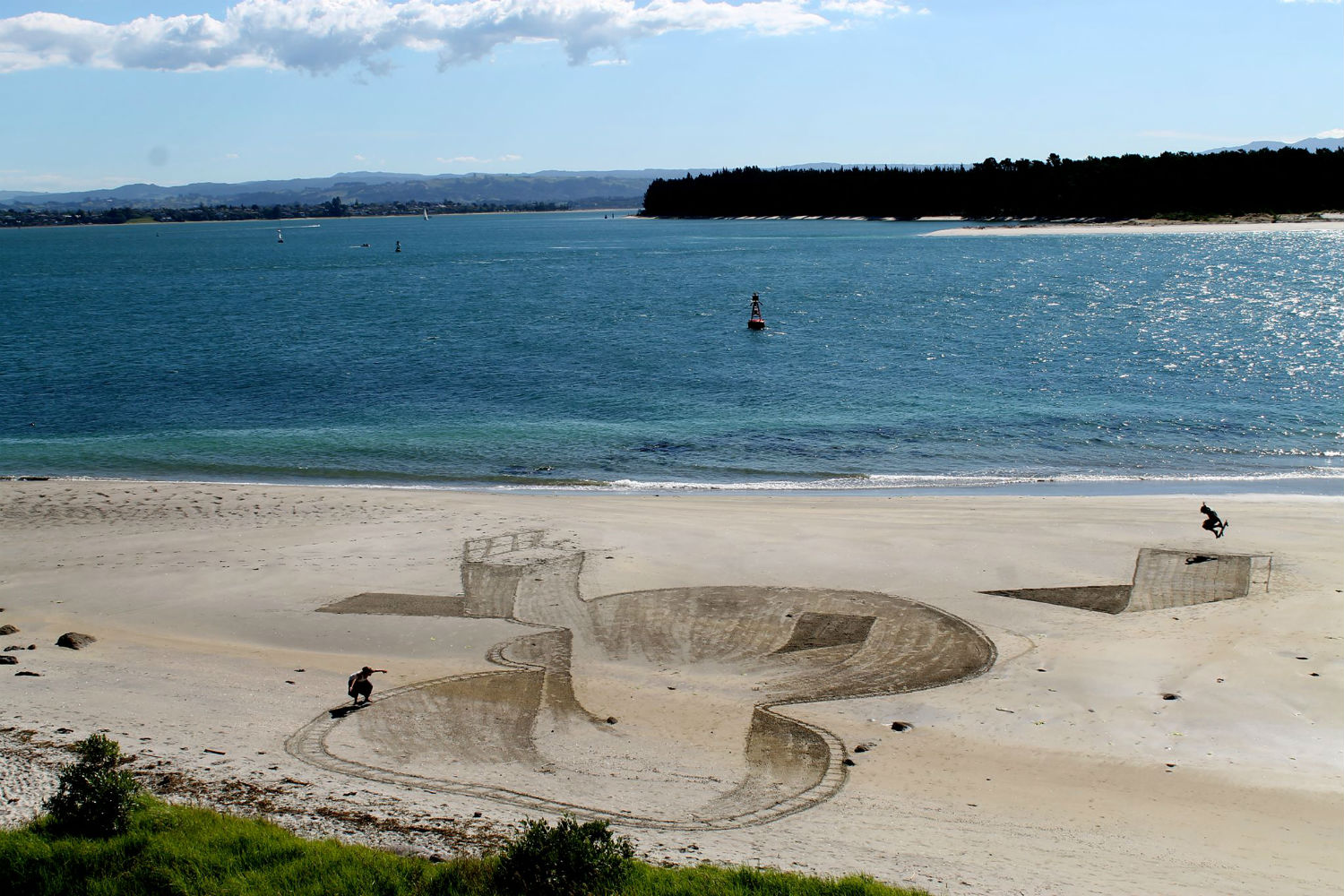 jamie harkins 3d beach art nz