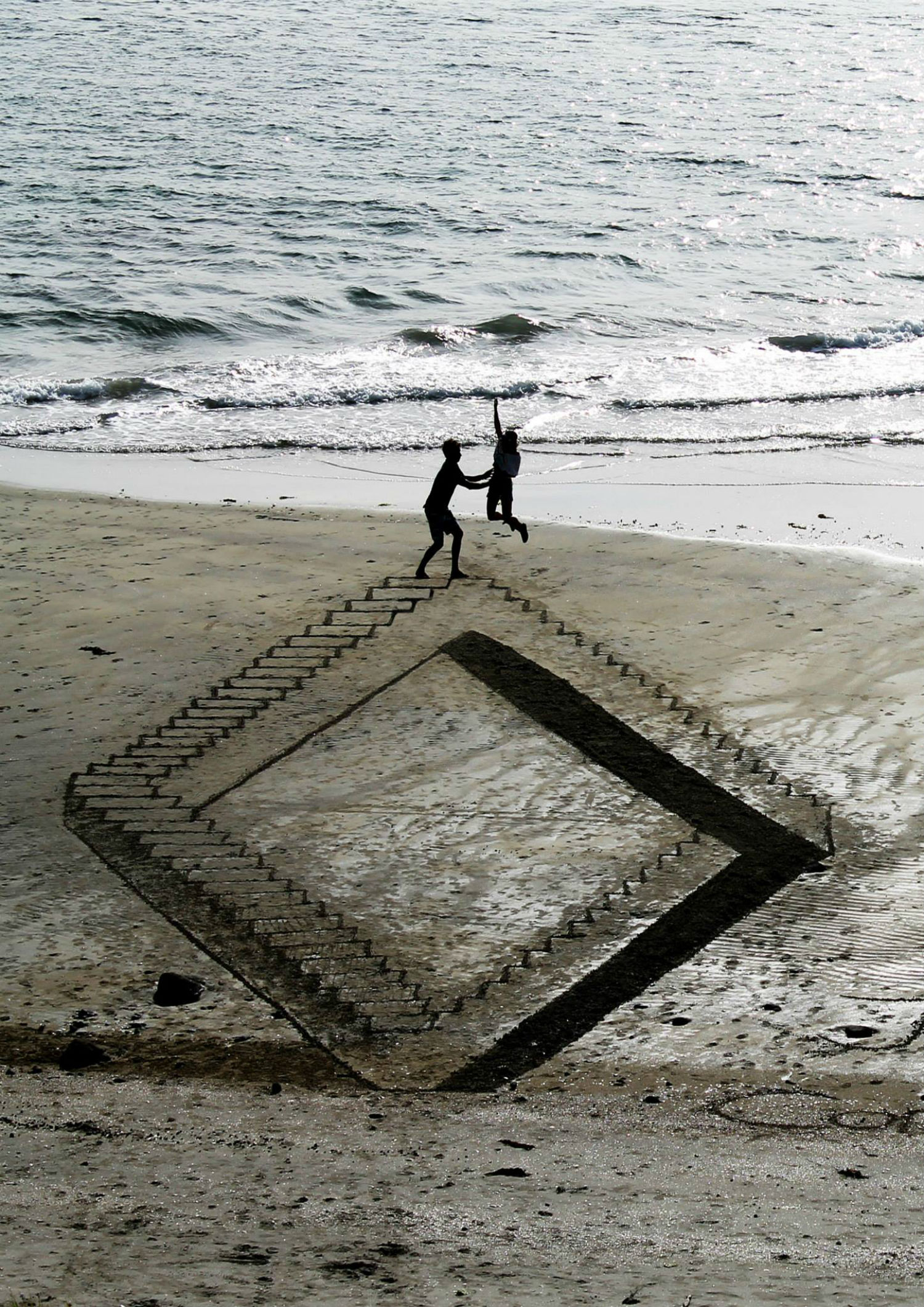 beach art nz 3d steps