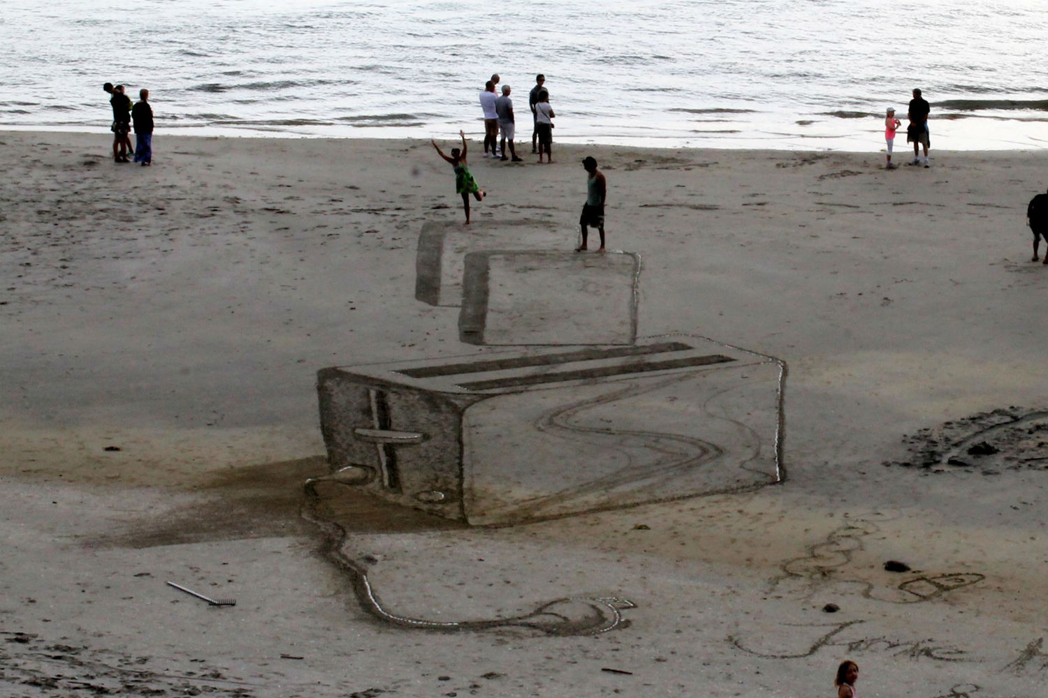 jamie harkins 3d art beach nz