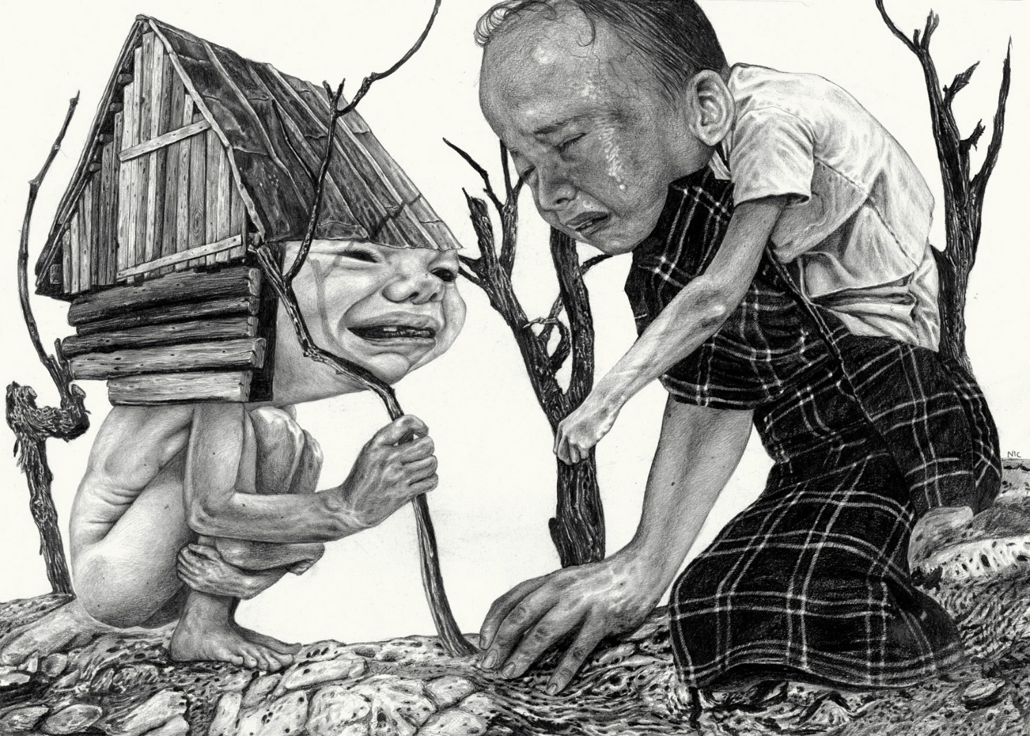 nicola alessandrini pencil drawings weird