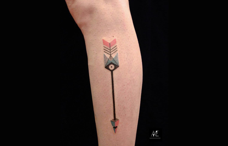arrow tattoo by axel ejsmont