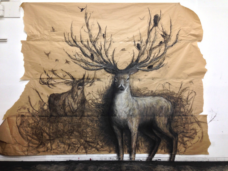 fiona tang deer drawing antlers