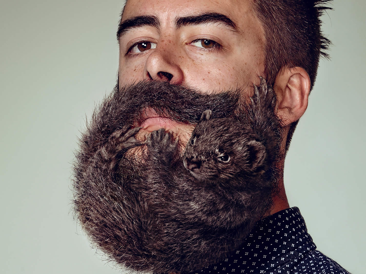 black haired beard, Electric Art / Schick NZ. By Sharpe + Associates Inc.