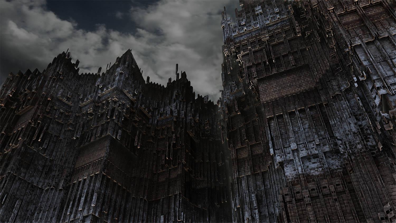 gothic building, dark scenario by Graham Symmons