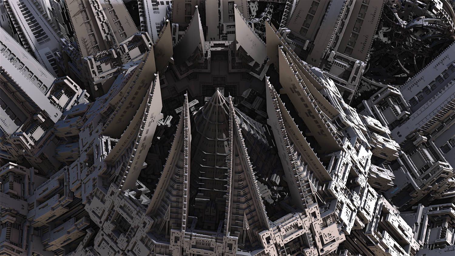 fractal art, top of building by Graham Symmons