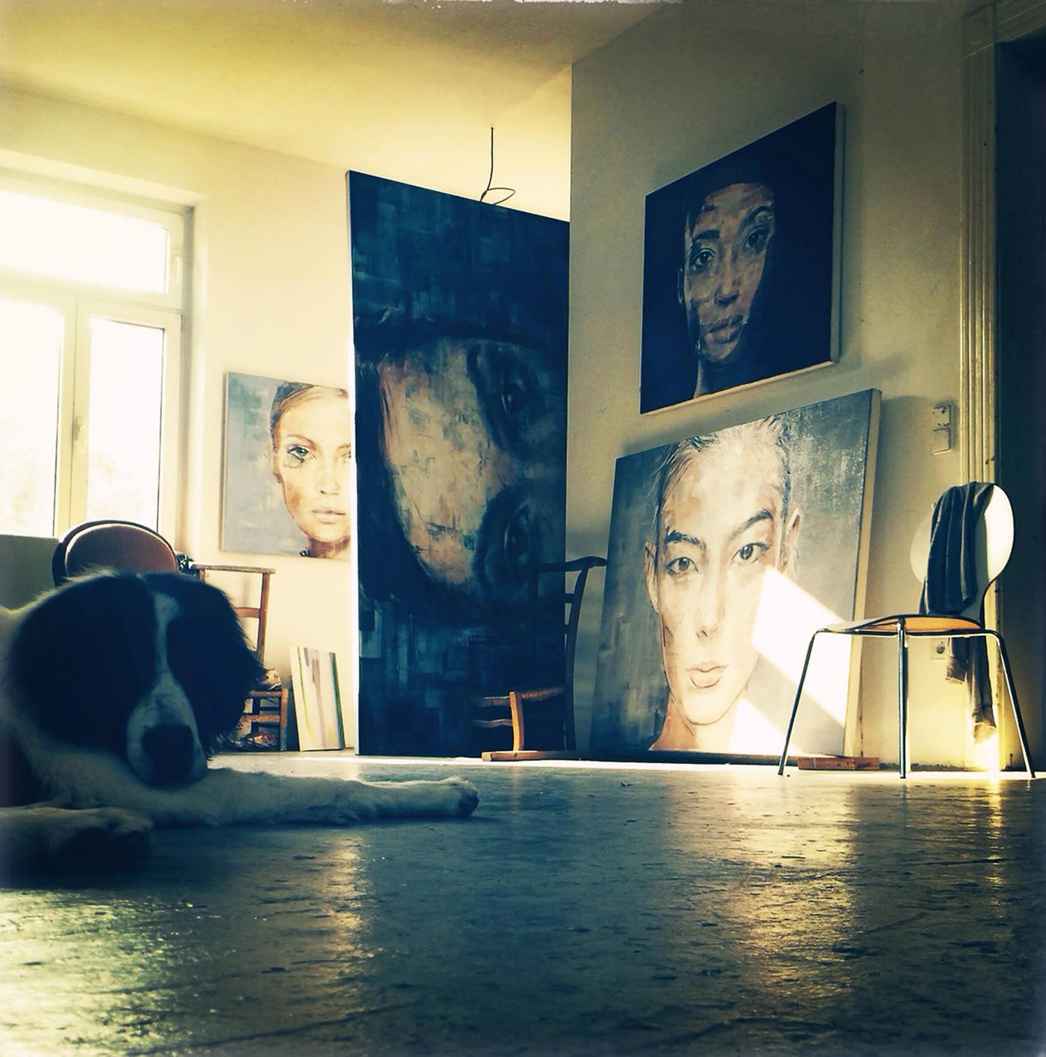 the artist's studio space, Harding Meyer