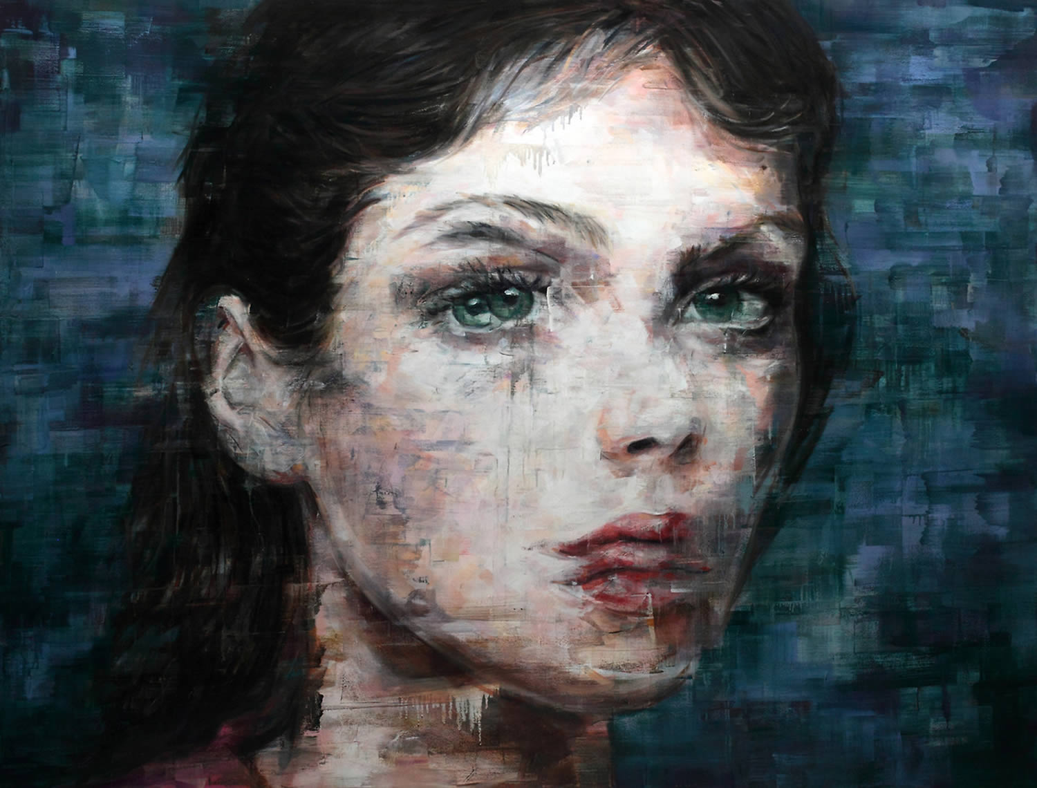 girl portrait painting by Harding Meyer