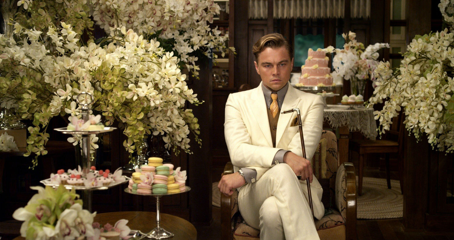 the great gatsby leo di caprio flowers cakes