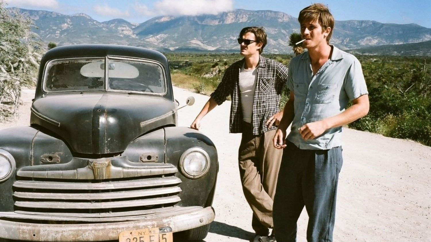 on the road beat generation sam riley car