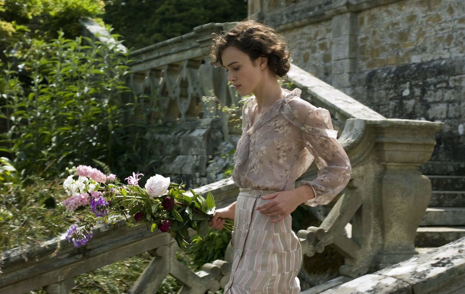 keira knightley atonement flowers england