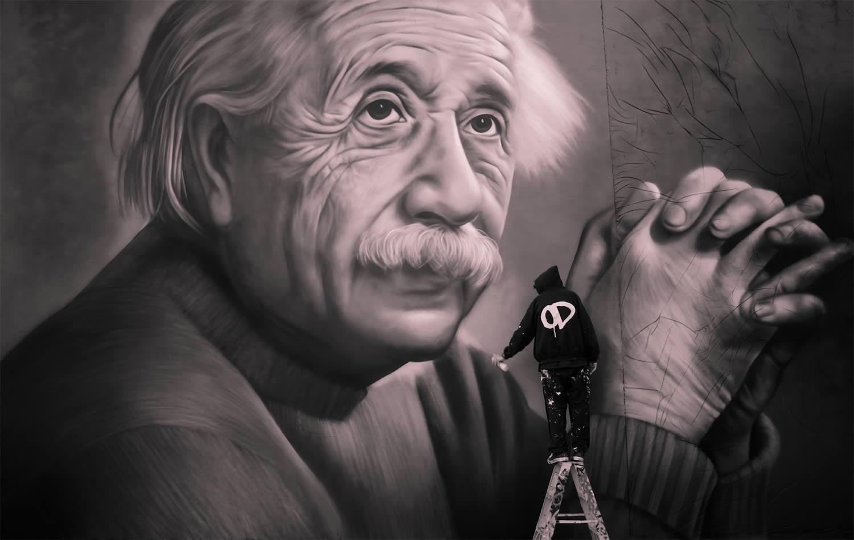 owen dippie Einstein graffiti