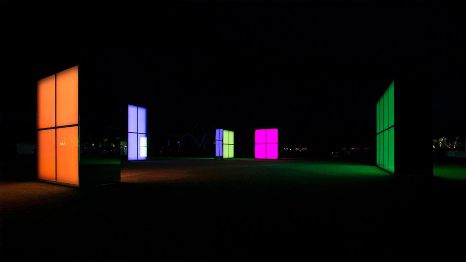 colored blocks in darkness by phillip k smith