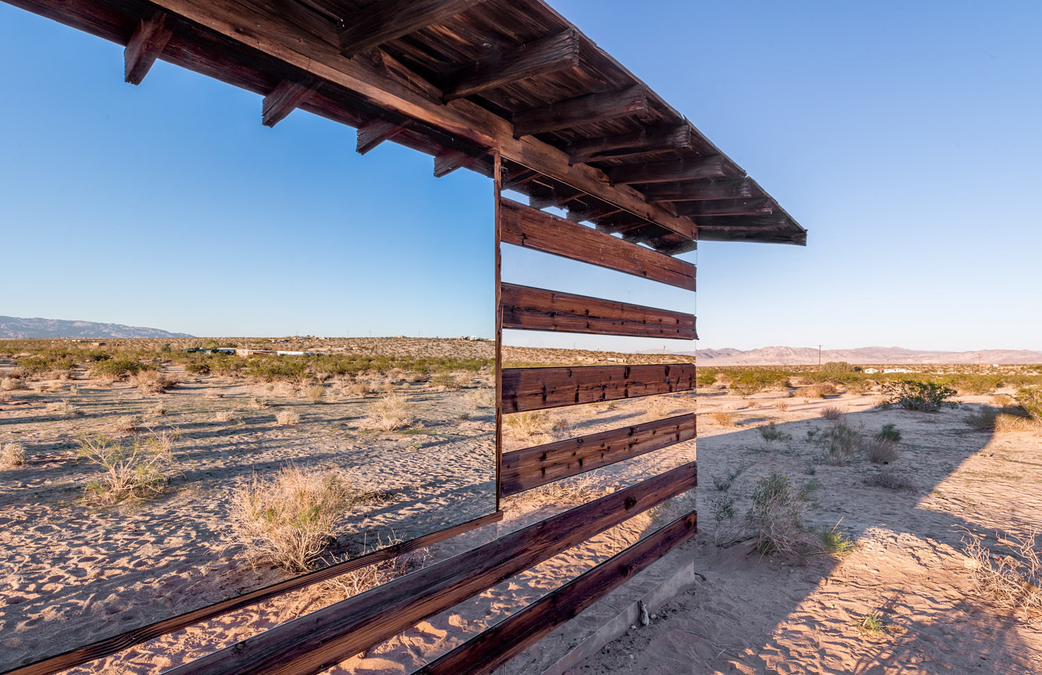 The See-through Cabin in the Desert