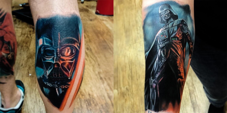 1600bc929 Darth vader tattoos by Aaron Lyons, star wars