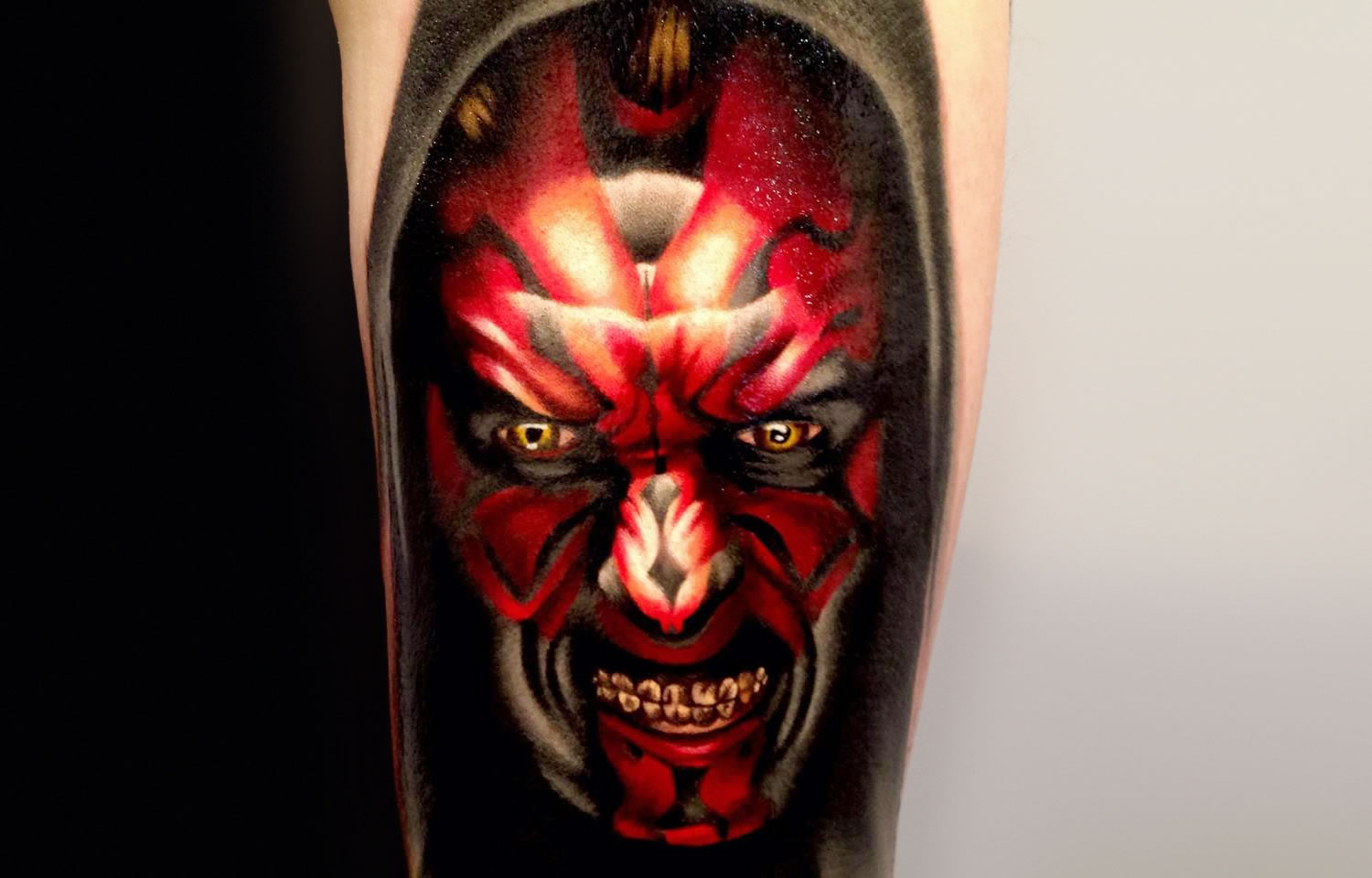80ca67227b 15 Star Wars Themed Tattoos. darth maul by levi barnett