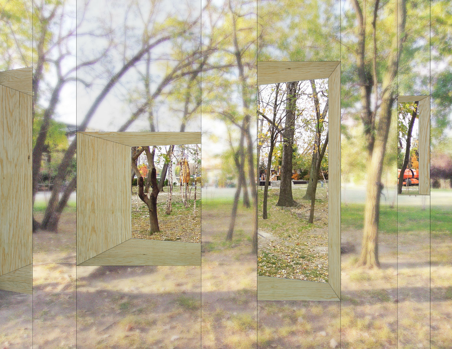 stpmj architects invisible barn mirrors