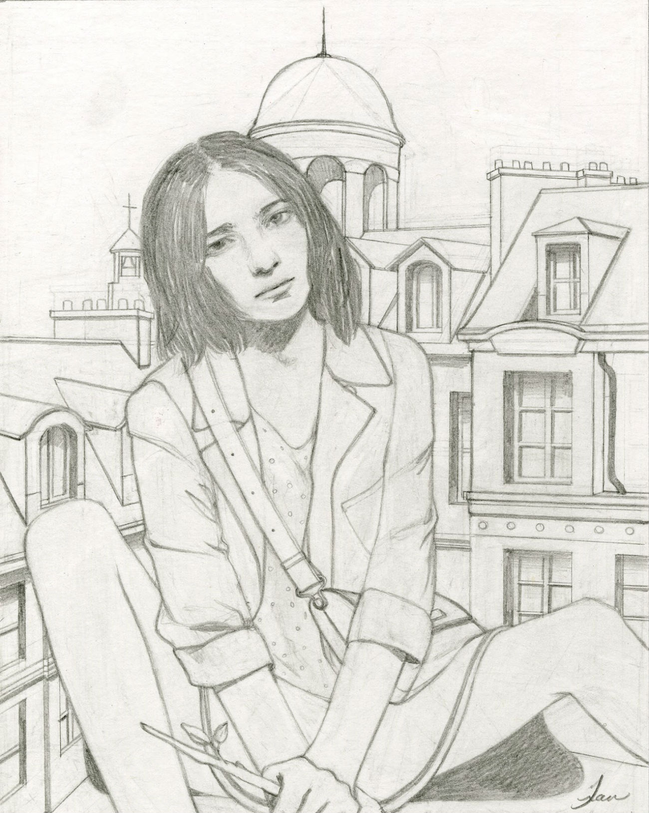 tran nguyen original sketch drawing
