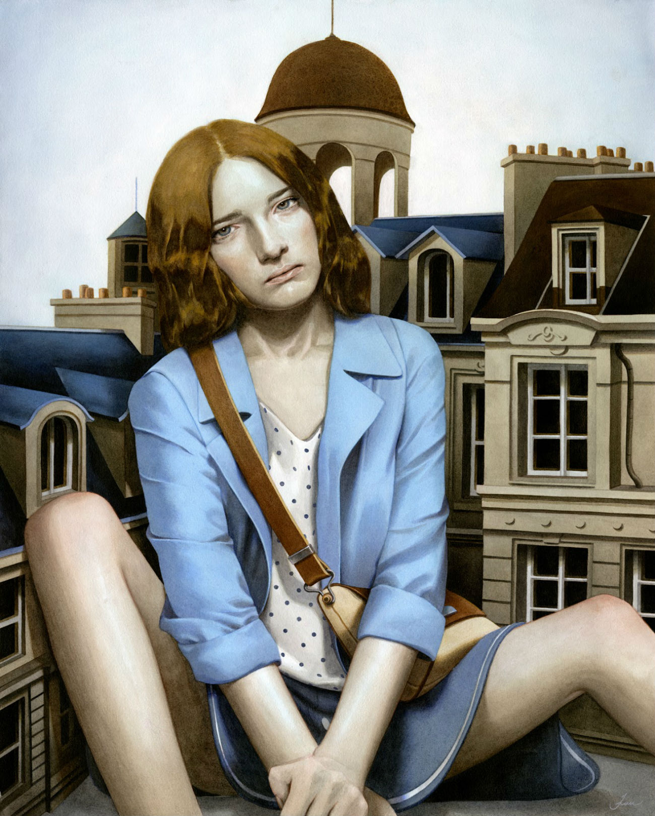 tran nguyen giant girl painting