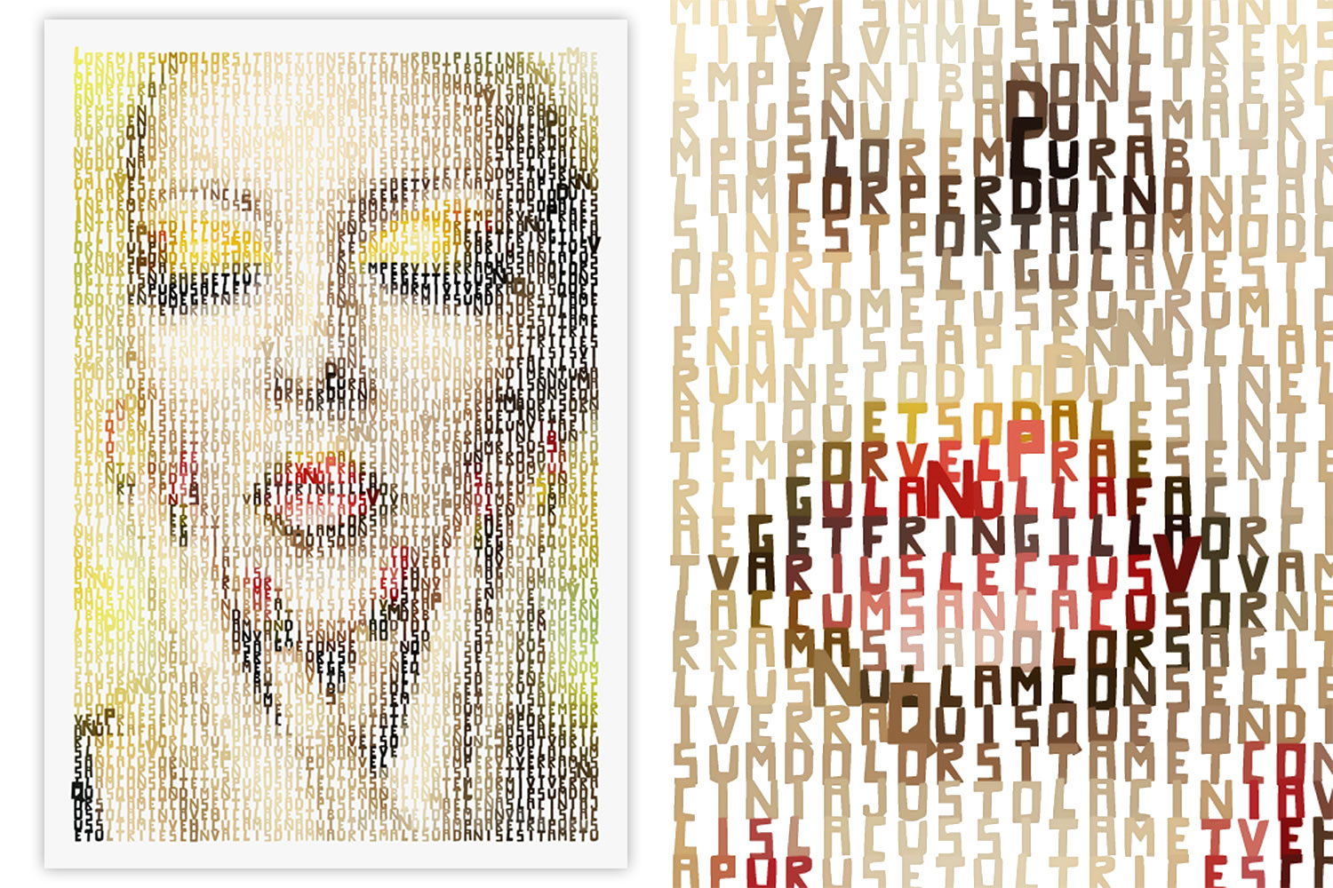 Typographic art, portrait of woman, Create Typographic Images with Typo-Painter