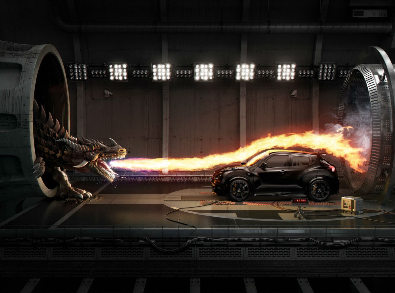 mecanique générale 3d dragon ad fire car