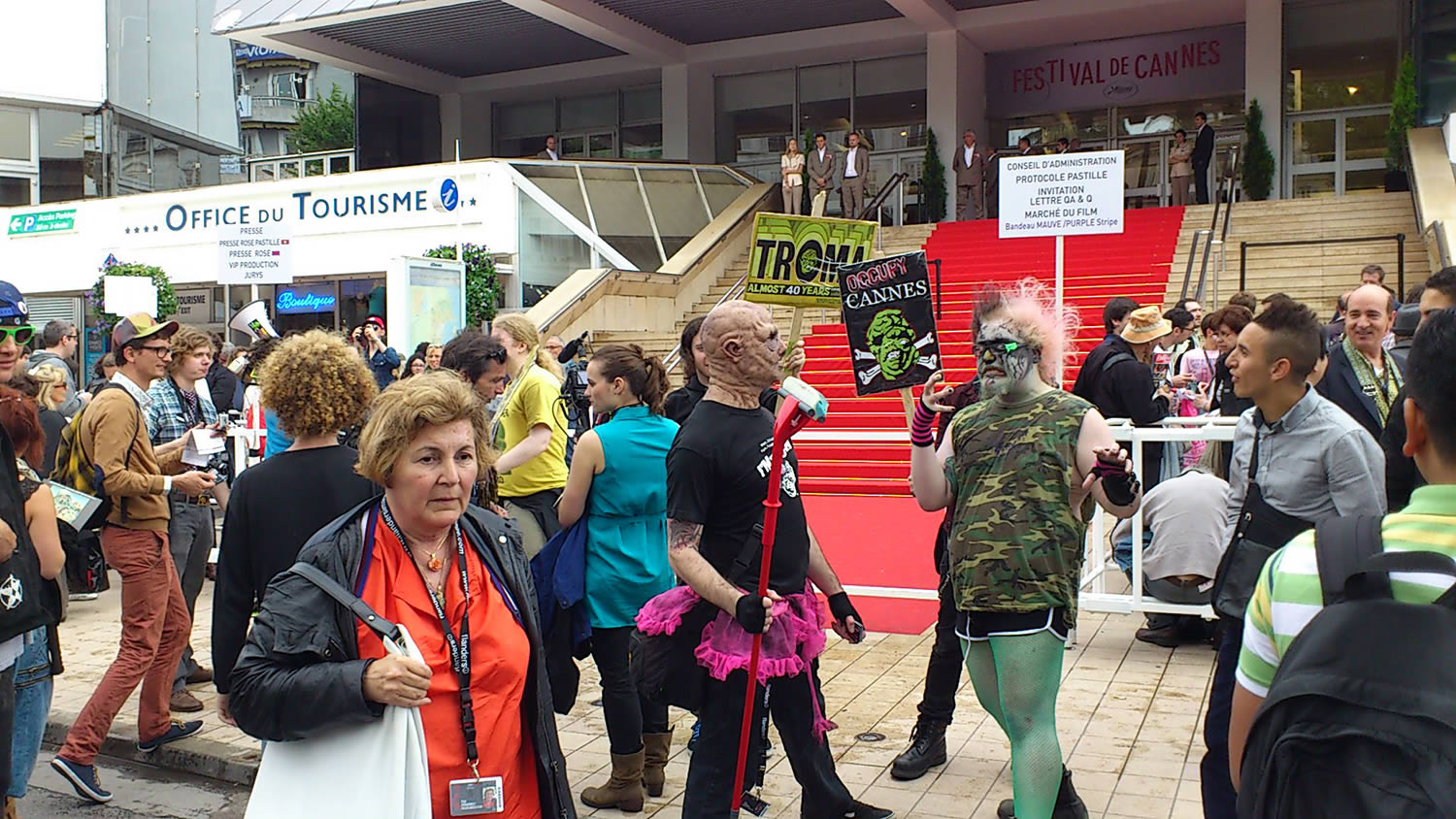 troma. protesters at cannes 2013