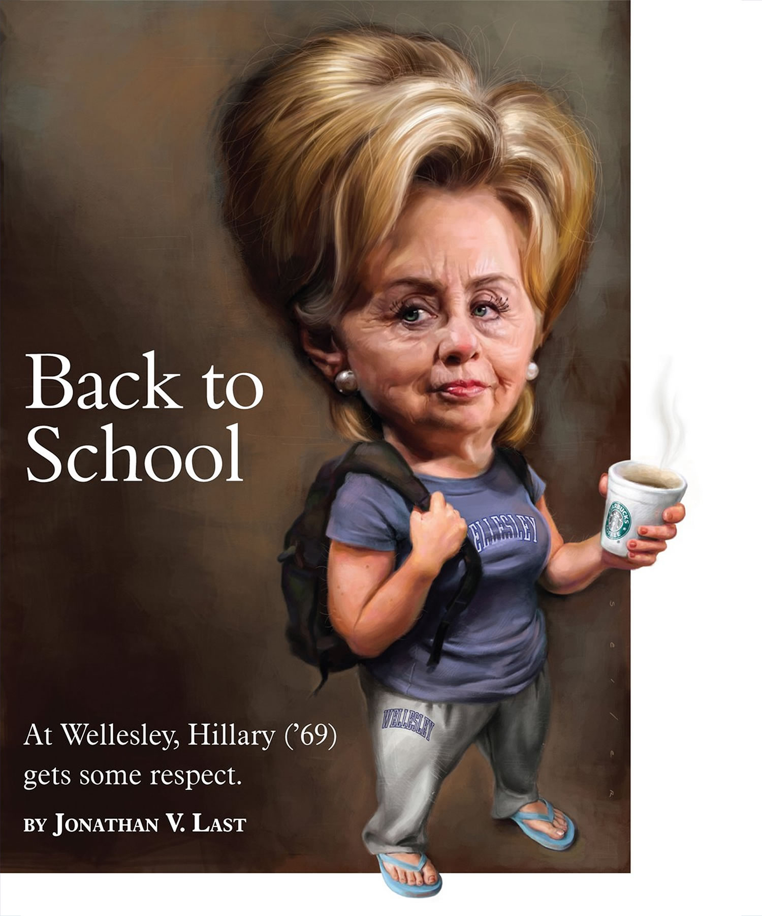 hillary clinton (wellesley college) back to school cover by Jason seiler