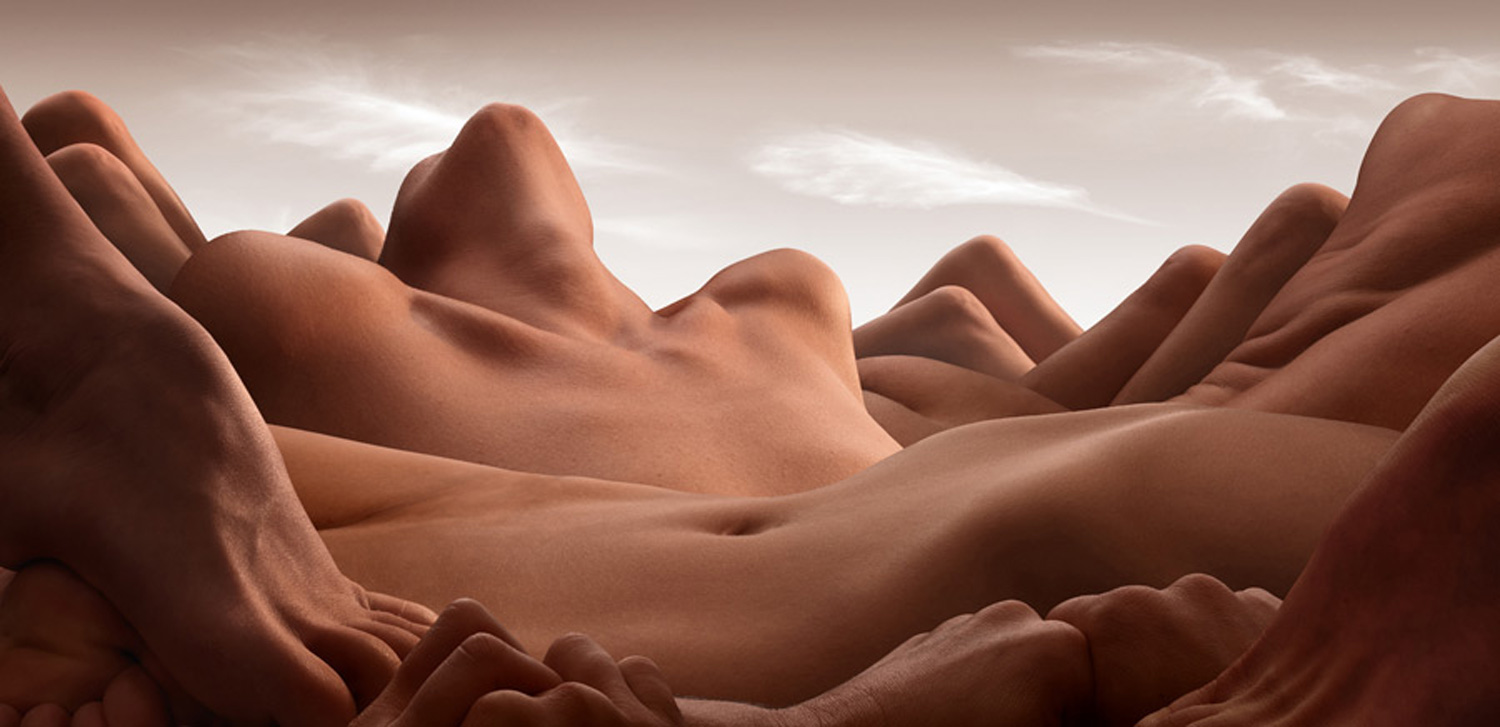 Valley of the reclining woman by Carl Warner